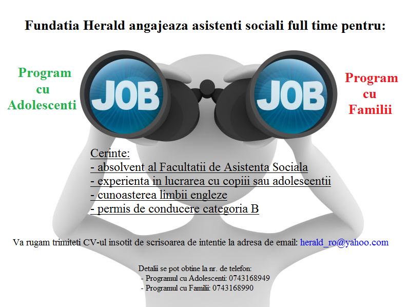 angajare asistenti sociali